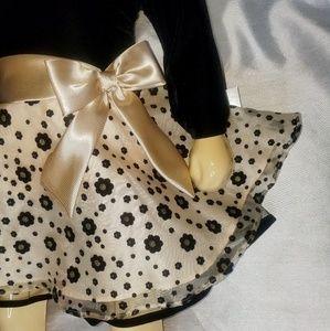 Holiday dress Bonnie Jean 2T black & gold